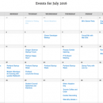 CFC Events Calendar