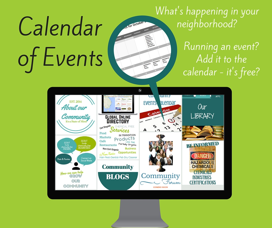 Chemical Free Events Calendar