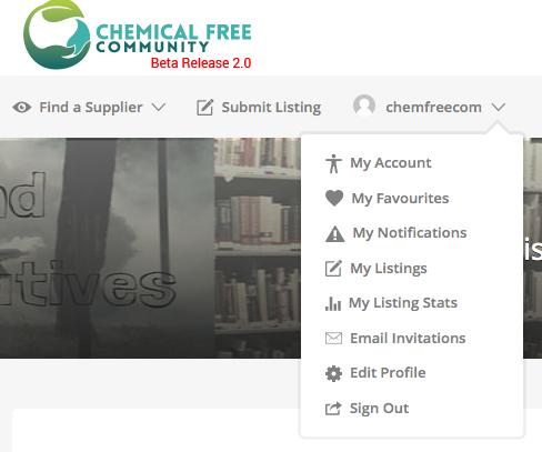 Notifications on ChemFreeCom Dashboard
