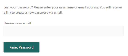 Enter username for reset email