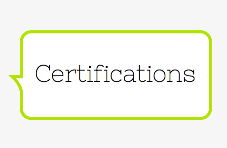 Be Informed - Certifications