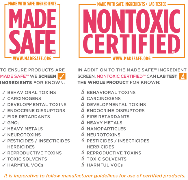 What are Made Safe & NonToxic Certified