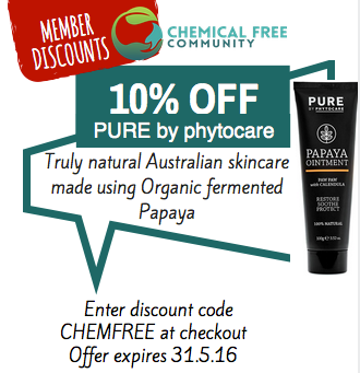 ChemFreeCom memebers discounts - Pure by phytocare