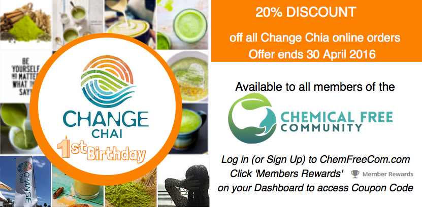 Chemfreecom members discount offer - Change Chai