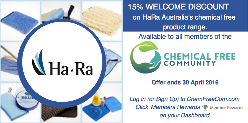 Chemfreecom members discount offer - HaRa Australia