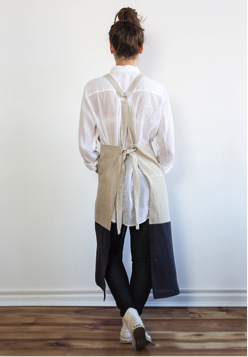 Cream Workwear apron 1