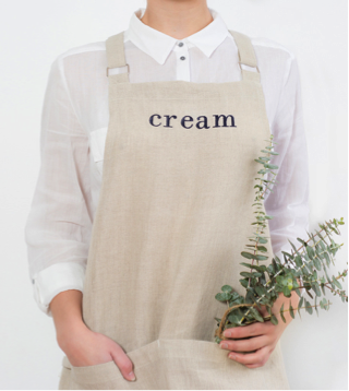 Cream Workwear apron 2