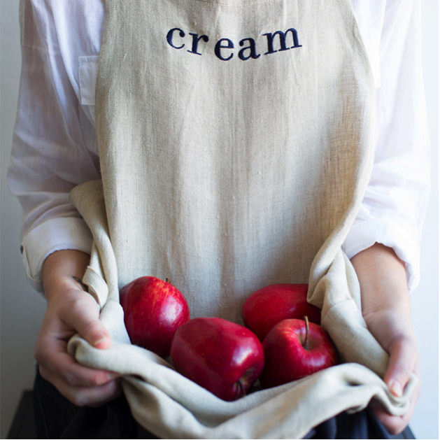 Cream Workwear apron