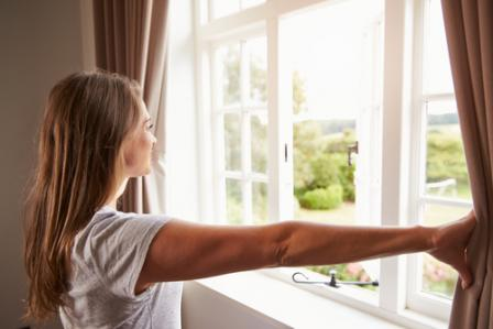 open a window to improve indoor air quality