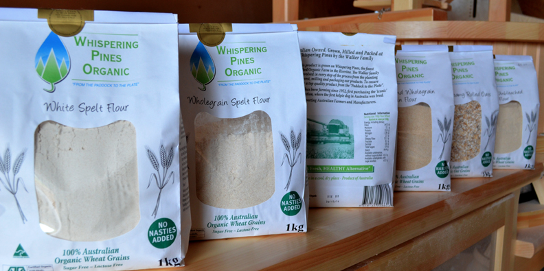 Whispering Pines Organics flours and mill